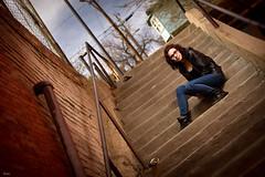 Emily (awallphoto) Tags: arizona portrait sky stairs 35mm hair dof steps az olympus 100mm ft f2 zuiko e5 shg zd fourthirds awall 35100mm aaronwallace awallphoto awallphotocom