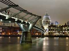 The Millenium Bridge and St. Paul's (Beardy Vulcan) Tags: