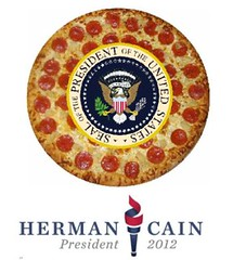 Herman Cain Presidential Campaign, with Pepperoni