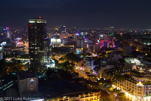 Saigon at night (from the Sheraton bar)