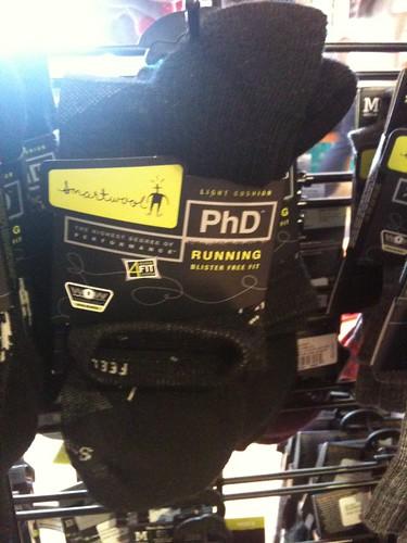 PhD running socks!
