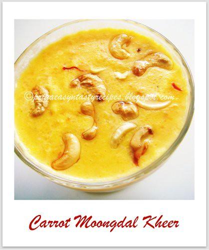 Carrot Moongdal Kheer