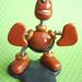 Brown Barry Robot Sculpture Business Card Photo Holder