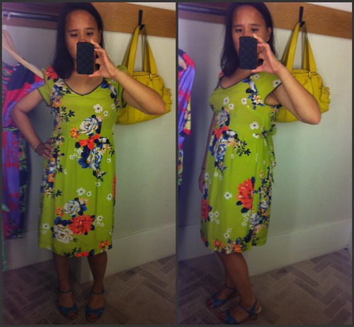 Chartreuse Shoots Dress