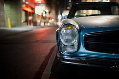 Mercedes SL 1965 (Steve Koukoulas) Tags: street light 35mm canon mercedes bokeh f14 melbourne sl mercedesbenz l usm ef 35l canonef35mmf14lusm