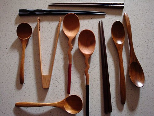 wooden items from Japan