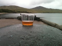 View from pier at Bunnahabhain Distillery