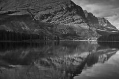 Jessica Swiftcurrent Howarth born 29.5.11 (flatworldsedge) Tags: usa white lake black mountains clouds reflections rocks national explored yahoo:yourpictures=blackandwhite yahoo:yourpictures=reflections2