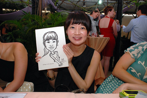 Caricature live sketching for Mark and Ivy's wedding solemization - 5