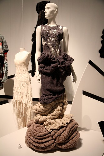 Silhouette comprised of four hand-knit dresses styled by Panos Yiapanis