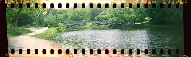 Bridge over Washington Park, Albany NY, with sprocket holes