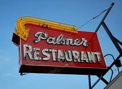 Palmer Restaurant neon sign--Restored! (63vwdriver) Tags: sign restaurant neon steel massachusetts palmer restored arrow mass 2011