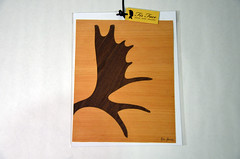 Fir Face: Wood Veneer Silhouettes