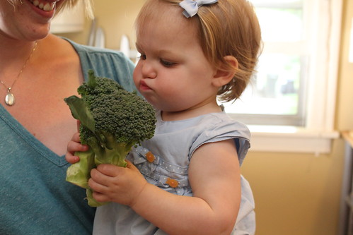 Annie loves broccoli