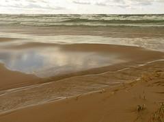 On The Waterfront (jimflix!) Tags: county lake reflection beach nature water sand stream waves wind michigan lookout lakemichigan panasonic shore elberta beachgrass benzie m22 beautyofwater fz18 scenicsnotjustlandscapes jimflix landscapelovers