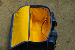 A fully lined bag with a lining that zips out for cleaning