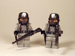 Punk Germans (*Nobodycares*) Tags: brick punk lego wwii bap worldwarii ww2 guns custom citizen worldwar2 torsos germans uas sheaths mg34 kar98 brickarms aww2 mmcb weirdwarii weirdwar2 awwii