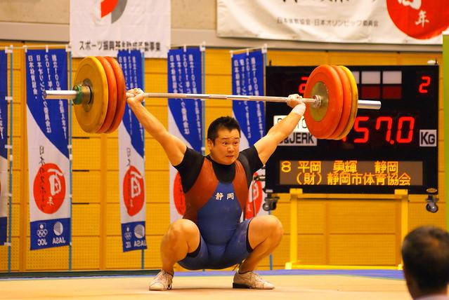 2011全日本選手権 平岡勇輝選手 スナッチ第2試技 157kg