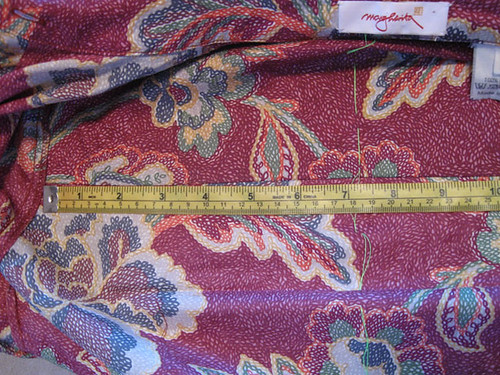 Blouse measure cntr back