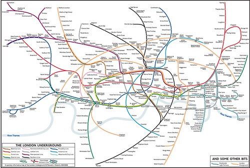 GeoCurvy Tube Map by Maxwell Roberts