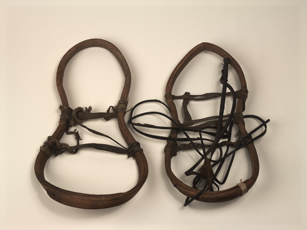 Ainu snow shoes (cirru). Collected in Hokkaido sometime before 1901. Photograph by Francine Sarin and Jennifer Gibson Chiappardi. Penn Museum image 174442.