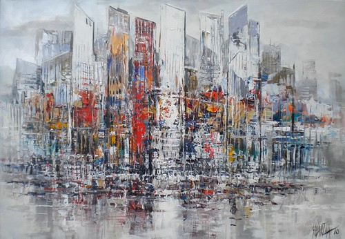La Defense, Paris - Painting - Abstract