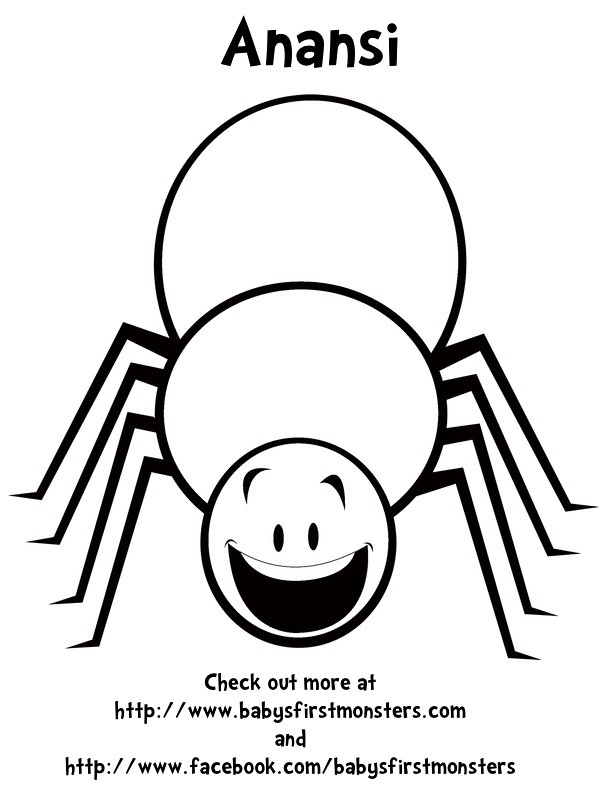 anansi coloring page - the world 39 s best photos of babysfirstmonsters and