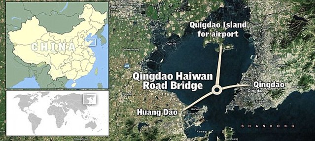That is a £1bn bridge too far World's longest sea bridge opens to traffic in China... but it will only hold the title for five years  13