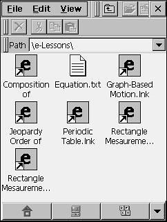 Screenshot of Xpander e-Lesson directory
