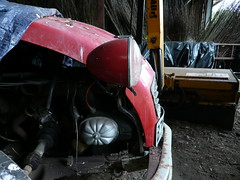 2cv Special B755CAF (C.Elston) Tags: blue red white forsale citroen engine hidden help devon exeter repair covered 2cv parked ruby rotten dolly 602 2cv6 wel373x d670uan b755caf