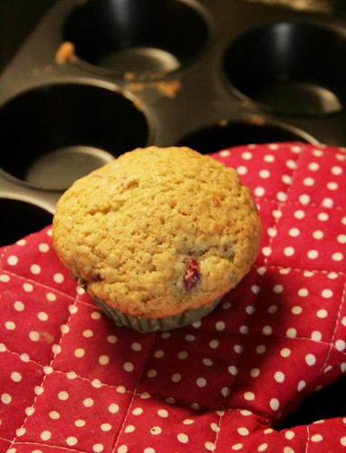 raspberry-coconut muffins
