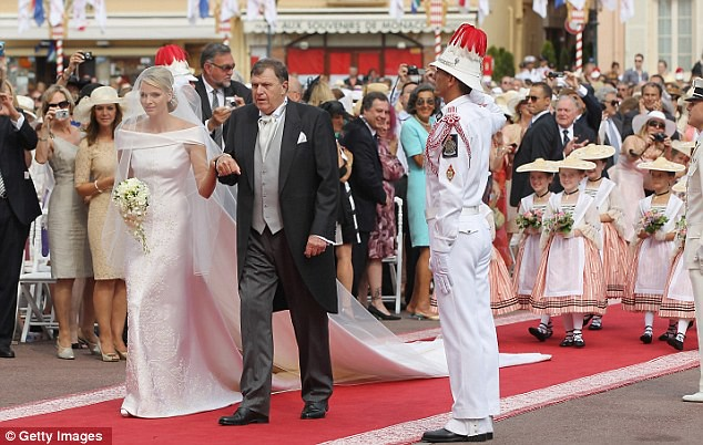 The Princess bride  Monaco  Charlene and Prince Albert ceremony The Princess bride  Monaco  Charlene and Prince Albert ceremony  24