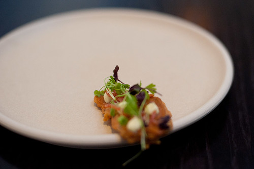 Amuse bouche: Chickpea and Rosemary Wafer