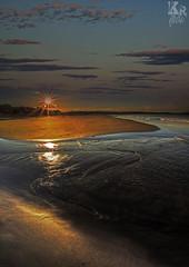 Stoned (Karl Ruston) Tags: water beach landscape sky clouds sand outdoor yorkshire reflections sunset sun ripple seaside shore ocean sea coast