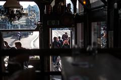 at the caf 't Hooischip, Amsterdam (Amselchen) Tags: amsterdam city caf people travel bokeh dof depthoffield fuji fujifilm fujinon fujifilmxseries xe1 xf35mmf14r