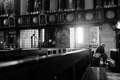 (maxlaurenzi) Tags: church cross black white sanctuary madonna grazie contrast shadow walking lights silence