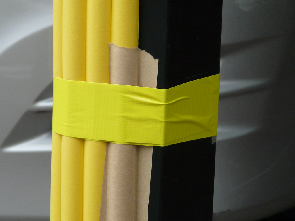 Parking Protection in Foam and Two Types of Duct Tape