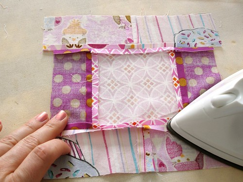 Altered Four Square Quilt Block Tutorial: Pressing the Block's Seams