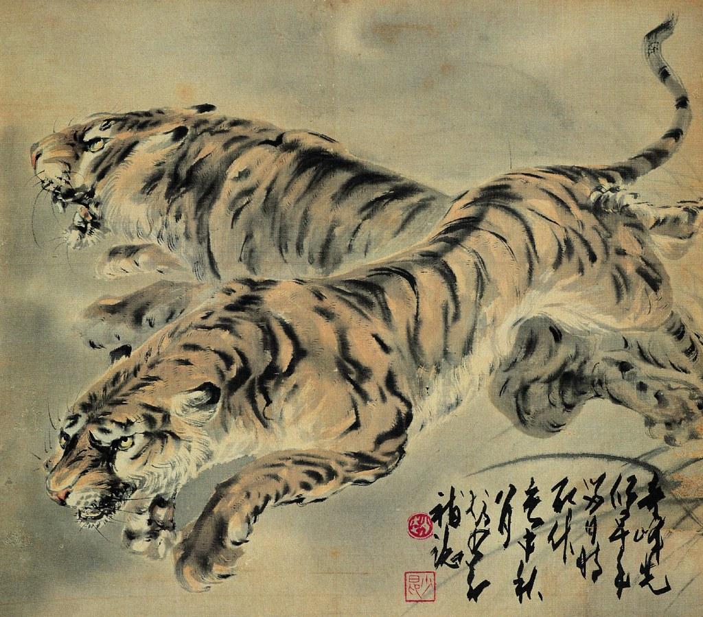 Ancient chinese tiger drawing - photo#9