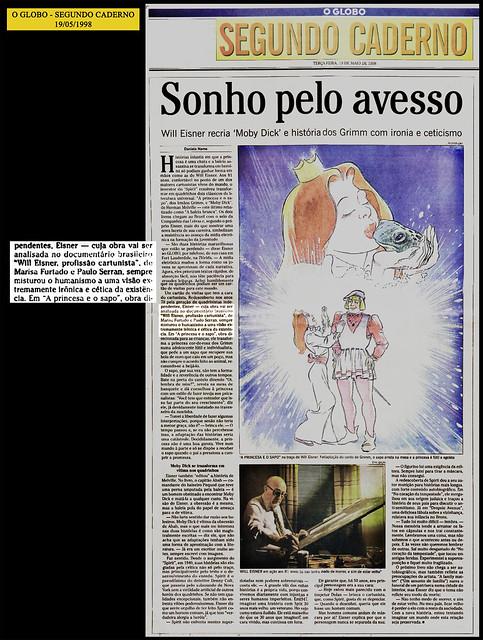 """""""Sonho pelo avesso"""" - O Globo - 19/05/1998"""