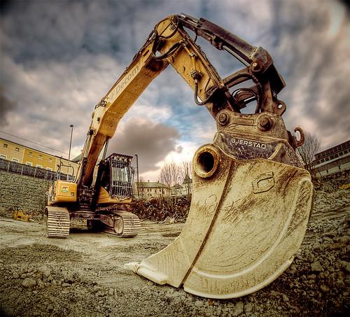 フリー写真素材, 工場・産業機械, ショベルカー・ユンボ, 工事, HDR,