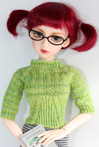 cailyn's green sweater