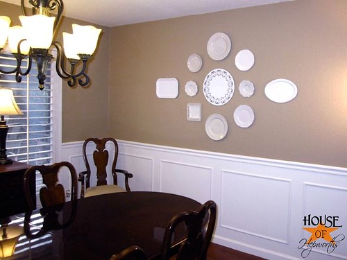 How to decorate with plates.  Make a plate gallery wall.  www.houseofhepworths.com