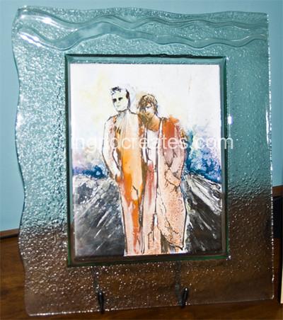 Brother and Sister, Lustres on Porcelain tile, Ingrid Lee