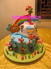 Baby Tv theme birthday cake (Jcakehomemade) Tags: elephant childhood butterfly turtle animation hippo toddlers 1stbirthdaycake childrensbirthdaycake fondantcake babybirthdaycake customizedcake girafferabbit jcakehomemadeblogspotcom cartoonbirthdaycake jessicalaw babytvbirthdaycake noveltycakeinfants eunicesbirthdaycake