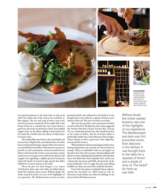 La Fiorentina in Modern Luxury Magazine