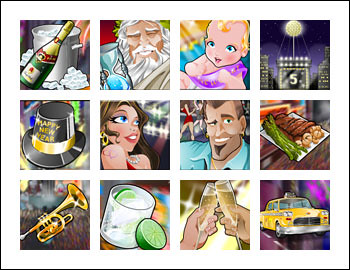 free Reel Party Platinum slot game symbols
