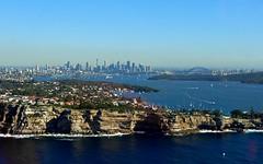 Sydney Skyline (jillbill1) Tags: bridge skyline sydney australia helicopter gapyear thechallengefactory