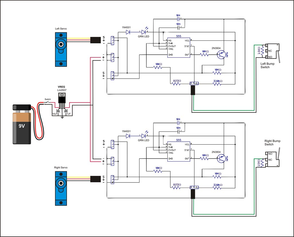 Freedom555bot Circuit Diagram