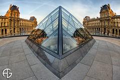 Rhombus (A.G. Photographe) Tags: fish paris france nikon louvre fisheye ag nikkor pyramide franais hdr parisian anto napolon photographe xiii parisien pyramidedulouvre photomatix 16mmfisheye d700 antoxiii hdr9raw agphotographe